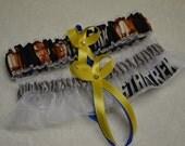NEW Handmade wedding garters keepsake and toss STAR TREK wedding garter set
