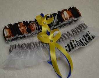 NEW Handmade wedding garters keepsake and toss STAR TREK wedding garter set