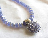 Tanzanite Bead Necklace and Pendant