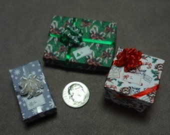 Three Mini Gift Boxes for you to Fill - set 79