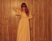 Beautiful long cream vintage boho dress