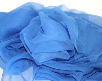 Bright Sky Blue Silk Chiffon Gauze - Accessory - Photo prop, Infant wrap - Great Gift - Low Shipping