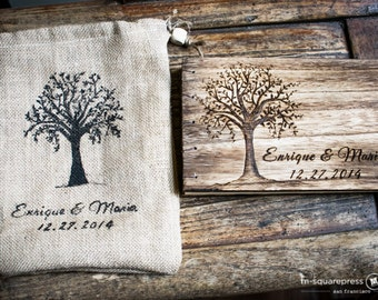 Rustic Personalized Woodsy Foliage Tree Wedding Guest Book