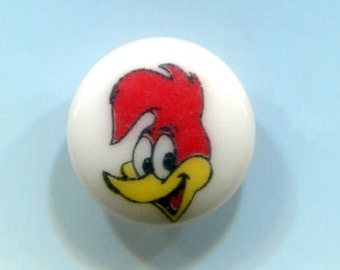 Woody Woodpecker Vintage Plastic Cartoon / Comic Clothing Button