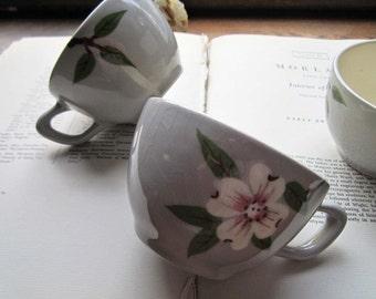Vintage Joni China / Dixie / Stetson / 3 Tea Cups