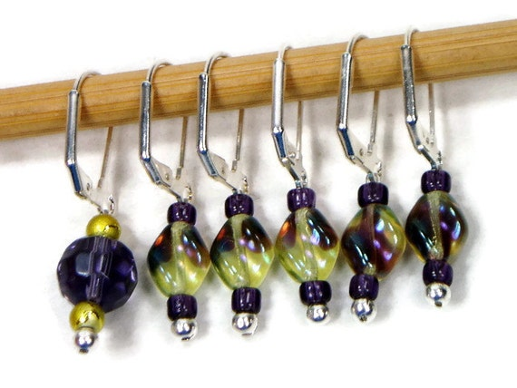 Locking Removable Stitch Markers Crochet Knitting by TJBdesigns
