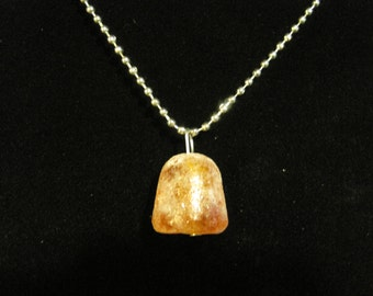 Orange Glitter Frosted Gum Drop Necklace
