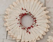 Re-purposed vintage book large paper wreath