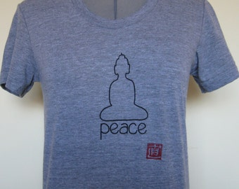 Peace T Shirt for Women American Apparel sizes Small through XLarge