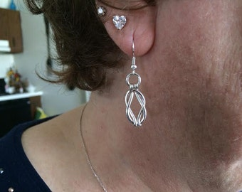 Lovers Knot Silver Filled Earrings