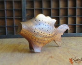 Vintage Carved Wood Fish Hors D'Oeuvres Toothpick Holder Housewares
