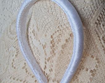 white SILK headband