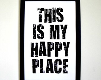 This is My Happy Place - Framed Print