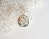 Beautiful Fine Silver Snowflake Pendant     Ready to Ship