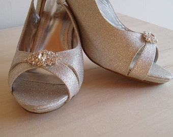 Classic Rhinestone Wedding Shoe Clips bridal shoeclips crystal shoes Romantic bling