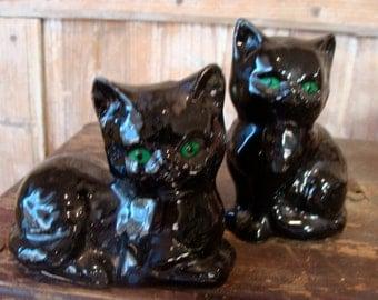 Vintage Black Cats Salt and Pepper Shakers