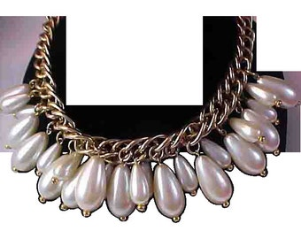 SHOWSTOPPER~225.8 gr. SOLID Simulated Pearls Necklace
