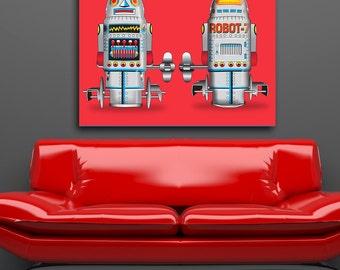 Pop Art  Robot No 7 Canvas Print