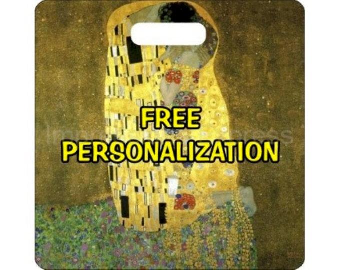 Gustav Klimt The Kiss Square Personalized Luggage Bag Tag