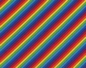 Rainbow Bias Stripe Fabric - Timeless Treasures - C1762