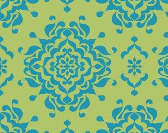 "Green Blue Damask Splendor Fabric - 33"" x 44"" - Riley Blake - C3912 - Lila Tueller"