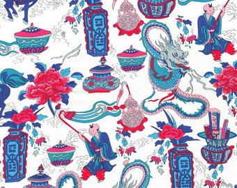 Liberty Fabric Dragonista Tana Lawn One Yard