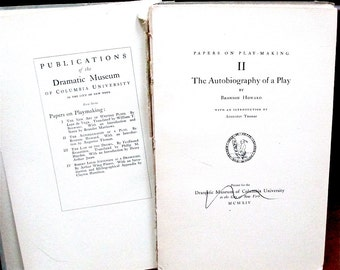 """Autobiography of a Play by Bronson Howard 1914  Limited Edition Rare uncut pages Intro by Augustus Thomas. """"Laws of Dramatic Construction"""""""