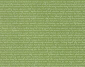 WINTER SALE - 1 1/8 Yards - Daysail - Tiny Script in Green - SKU 55108 19 - by Bonnie and Camille for Moda Fabrics