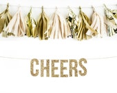CHEERS Glitter Garland. Wedding Photo Prop. Wedding Photos. Wedding Reception