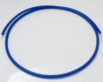 Rubber Covered Memory Wire Necklace Blank- One PVC tube coated necklet, Choice of Colours, UK