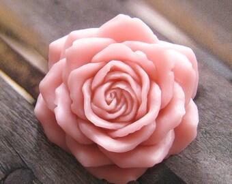 Big Pink rose cabochon - 2 pcs - (CA831-B)