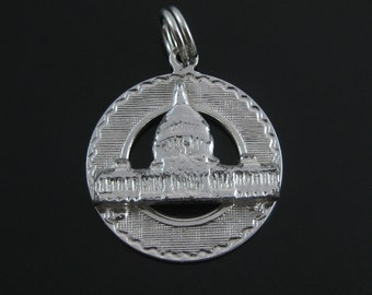 Charm, Sterling Silver, Washington DC, White House, Building, Travelers Charm