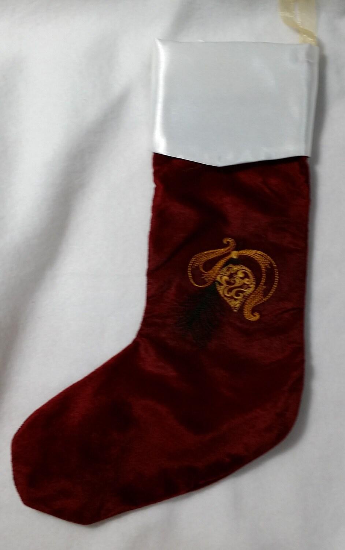 White velvet christmas stocking however