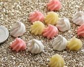 12mm Whipped Cream Dollop Cabochons - 9 pcs set
