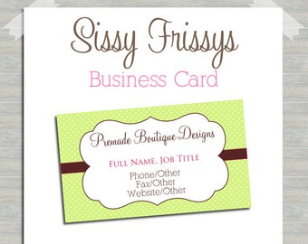 Business Card - Digital File - Business Card File - Earring Card - Jewelry Card - Hang Tag - Mom Card - Play Date Card - 222440868