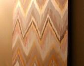 Original ikat chevron Delightful 30x40 Painting by Jennifer Moreman