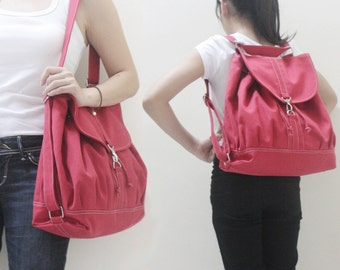 Back To School SALE - 20% OFF Pressie in Red / Backpack / Satchel / Rucksack / Messenger / Tote / Women / For Her / Gift Ideas