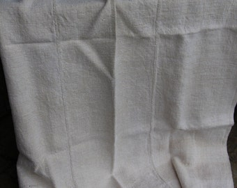 nr: 118 antique DUVETCOVER coverlet upholstery fabric rustic and rural CREAMY color LAUNDERED