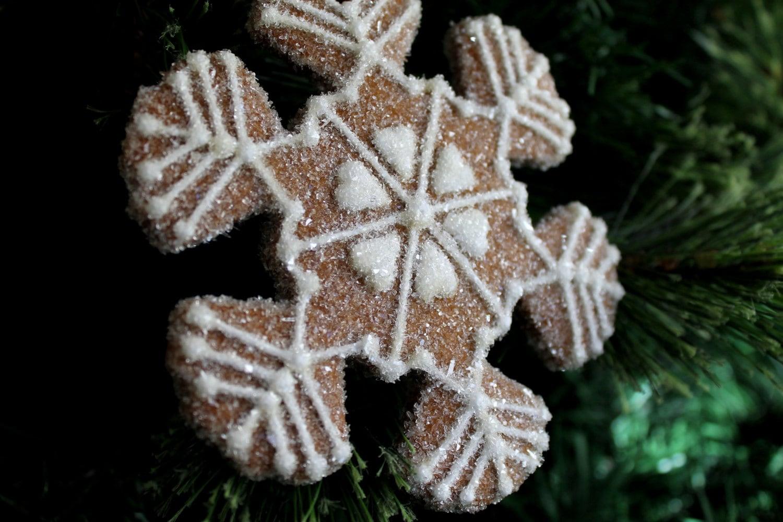 Christmas Ornament Snowflake Hearts Gingerbread Gift-Keepsake OOAK