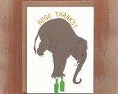 Circus Elephant Huge Thanks - Thank You Cards (8/box)