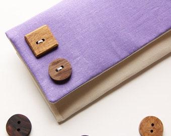 Color Block Clutch, Lavender and Cream, Pale Purple Clutch, Purple Bridal Purse, The Katie Clutch