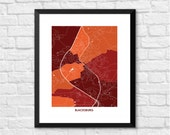 Blacksburg Virginia Art Map Print.  Color Options and Size Options Available.  Map of Blacksburg.  Home of Virginia Tech