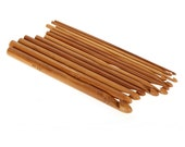 Crochet needles Set of 12 Sizes Bamboo Crochet Hooks 15cm (6 inches)