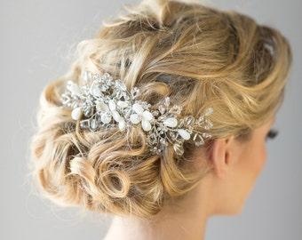 Bridal Hair Comb, Beach Wedding Hair Comb, Crystal Bridal Hair Comb, Wedding Headpiece, Wedding Hair Accessory
