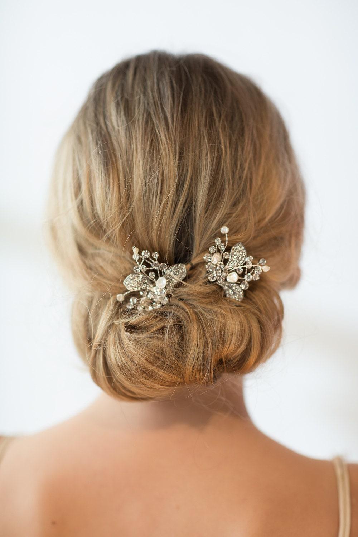 Bridal Hair With Pins : Wedding hair bridal freshwater pearl