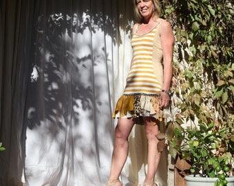 50% SALE upcycled clothing, upcycled dress . S