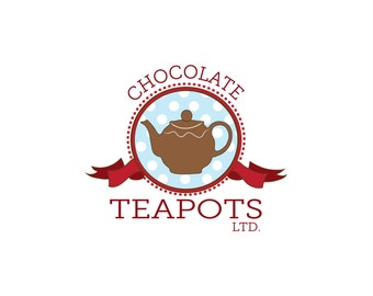Logo Design Branding, Custom Logo Design, Custom Business Logo Illustration, Logo Design, Custom Logo, Teapot Logo, Chocolate Logo