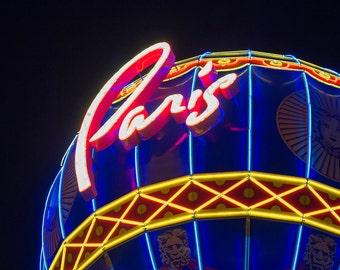 Vegas Art - 8x10 Photography Print of Paris Casio and Hotel Sign Art - Photography Print - Las Vegas