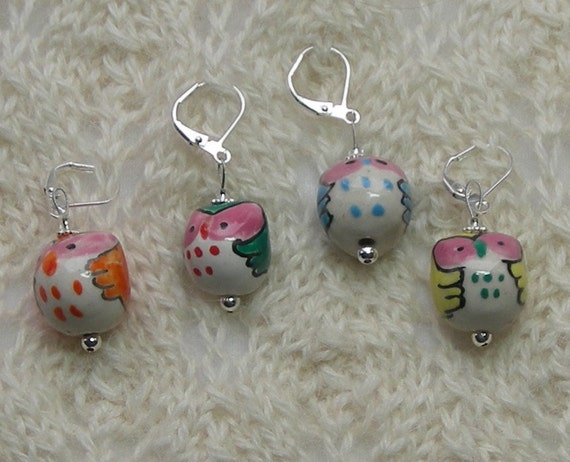 Lace Knitting Stitch Markers : owl crochet stitch markers knitting stitch markers