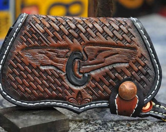 The Winged Wheel Fin - a custom mens chain wallet
